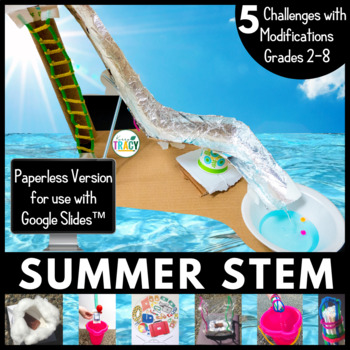 Summer / End of the Year STEM Challenge Bundle PAPERLESS