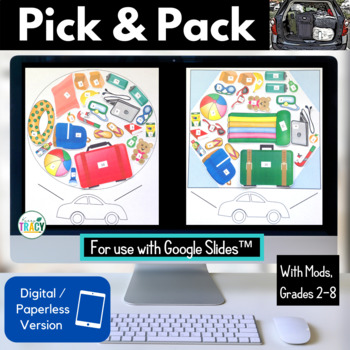 Summer / End of the Year STEM Challenge: Pick and Pack PAPERLESS