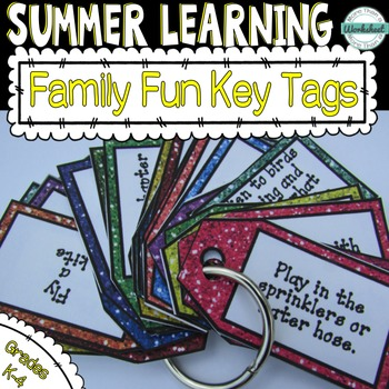 Summer Enrichment Key Tag Challenges--Family Fun!