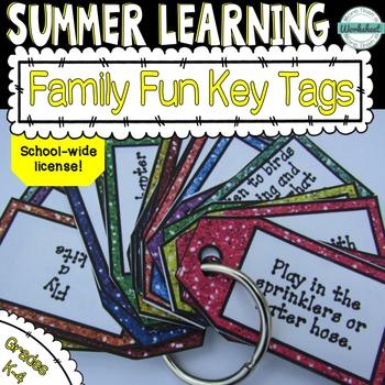Summer Enrichment Key Tag Challenges--Family Fun! School-w