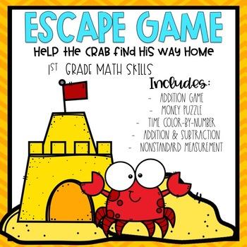 Summer Escape Room 1st grade Math Skills