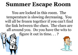 CC7 Math Topics Review Escape Room Challenge