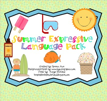 Summer Expressive Language Pack