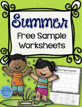 Summer FREE SAMPLE Worksheets
