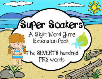 Summer FRY Sight Words Extension Pack (words 601-700)