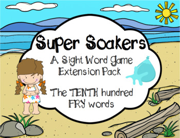 Summer FRY Sight Words Extension Pack (words 901-1000)