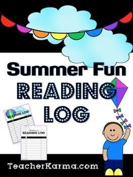 Summer FUN Reading Log - Stop the Summer Slump