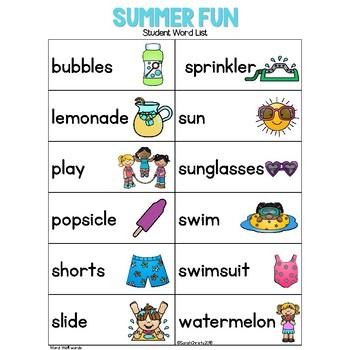 Summer FUN: Write the Room