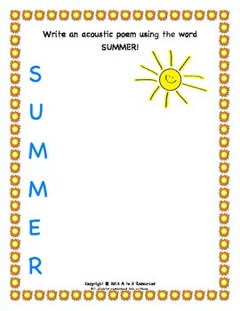 Summer FUNshine Packet