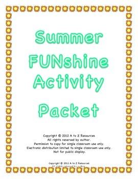 Summer FUNshine Packet