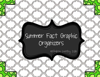 Summer Fact Graphic Organizer