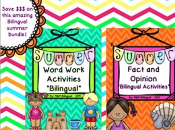 Summer Bundle *Bilingual Activities*
