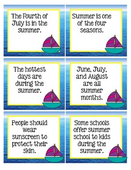 Summer Facts and Opinions Center