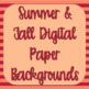 Summer/Fall Background Digital Papers