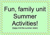 Summer Family Activities to Prevent the Summer Slide