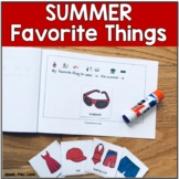 Speech Therapy Summer Activity with Visuals - ESY or Summe