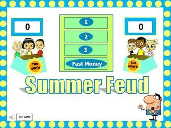 Summer Feud Powerpoint Game
