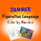 Summer Figurative Language Color by Number End of the Year