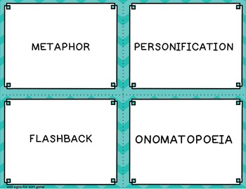 Summer Figurative Language Games and Creative Writing Projects