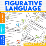 Figurative Language Task Cards With a Summer Theme