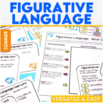 Summer Figurative Language Task Cards