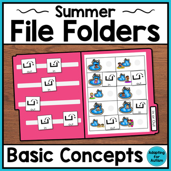 Summer File Folder Activities for Special Education and Autism – Basic Concepts