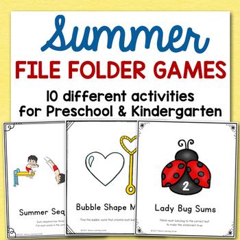 Summer File Folder Games