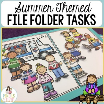 Summer File Folder Games - Morning Work, Center Activities, Small Group & More!