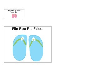Summer File Folders for Special Education