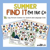 Summer Find It on the Go for Speech/Language + Teletherapy Version