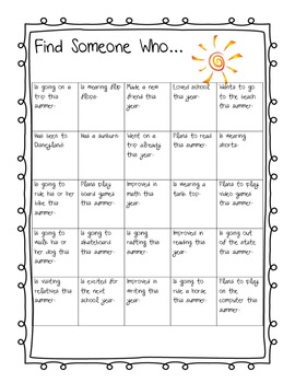 Summer Find Someone Who...