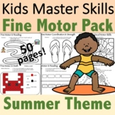 Summer Fine Motor Activities Pack - (With Math and Sight Words)