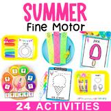 Summer Fine Motor Activities | Preschool Theme Work Tub Centers Montessori PreK
