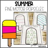 Summer Fine Motor Popsicles