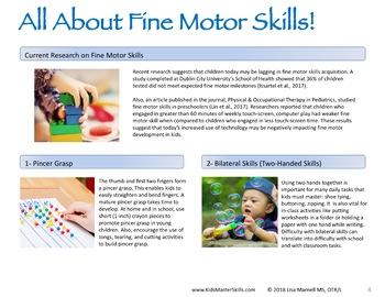 Summer Fine Motor Skills - SUMMER ARTIST (Occupational Therapy)