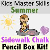 Summer Fine Motor Skills - Sidewalk Chalk Activities
