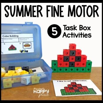 Summer Fine Motor Skills Task Boxes