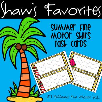 Summer Fine Motor Skills {Tracing} Task Cards