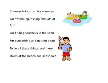 Summer Fingerplay