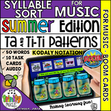 Summer Firefly 1-2-3 Music Syllable Sort (Kodaly Notation)