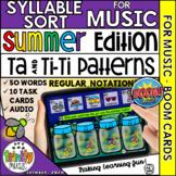 Summer Firefly 1-2-3 Music Syllable Sort (Regular Notation