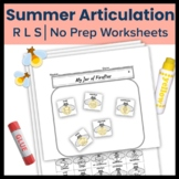 Summer Firefly Articulation Craft  - R, L, S in all word positions