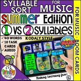Summer Firefly Syllable Sort for Music (Kodaly Notation)  
