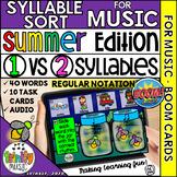 Summer Firefly Syllable Sort for Music (Regular Notation)