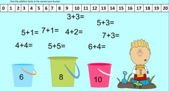 Summer First Grade Math Skills Smartboard