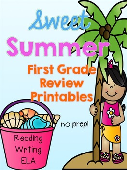 Summer First Grade Review Printables