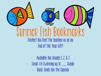 Summer Fish Bookmarks