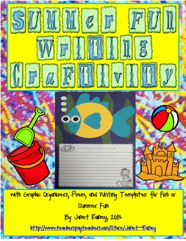 End of Year Summer Fish Writing Craftivity