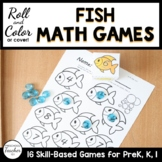 Summer Fish Roll and Color Math Activities