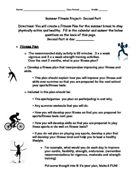 Summer Fitness Project